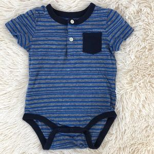 Gap Striped Henley Bodysuit 12-18 Months